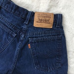 Vintage high waisted orange tag Levi's shorts